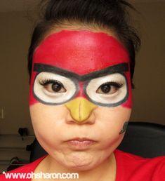 OHSHARON.COM: Angry Birds Costume Make-Up