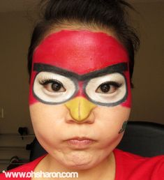 OHSHARON.COM: Angry Birds Costume Make-Up