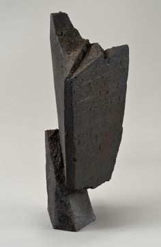 Jonathan Cross, Shift I, Black stoneware, wood fired