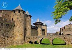 Château Comtal 12th century, La Cité, Carcassonne medieval fortified town Aude, Languedoc-Roussillon, France