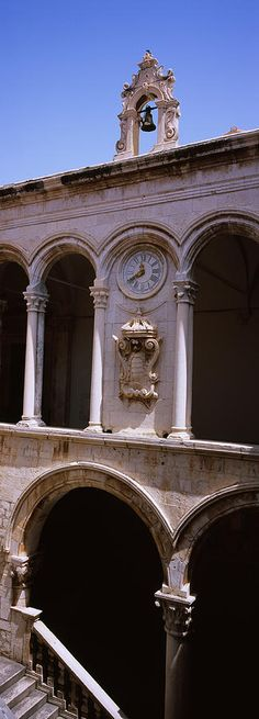 Low Angle View Of A Bell Tower, Rectors Dubrovnik. Croatia