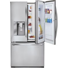 This fridge is so cool.  I love that the door can open to just the shelves on one side