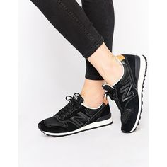 New Balance 996 Black Leather & Mesh Sneakers (765 DKK) ❤ liked on Polyvore featuring shoes, sneakers, black, mesh sneakers, genuine leather shoes, new balance, leather trainers and black sneakers