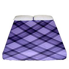 Pastel purple and steel black lines pattern, retro tartan, classic plaid Fitted Sheet (King Size) Picnic Blanket, Outdoor Blanket, Tartan, Plaid, Line Patterns, Pastel Purple, Bed Sizes, King Size, Creative Design