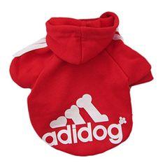 TOOGOO(R) Cane gatto cucciolo animale domestico Maglione cappuccio Abbigliamento calda vestiti cappotto