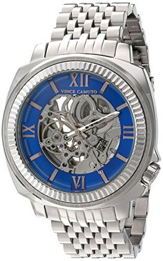 Vince Camuto Men's Quartz Stainless Steel Dress Watch, Color:Silver-Toned (Model: VC/1069BLSV)