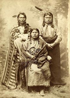 """Bismark Mary"" and Mandan men. ca. 1880."