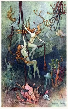 Warwick Goble illustration from Dora Owen's Book of Fairy Poetry, 1920.