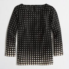 J.Crew Factory printed scoopneck blouse Love with a pencil skirt and bow-toe pumps!