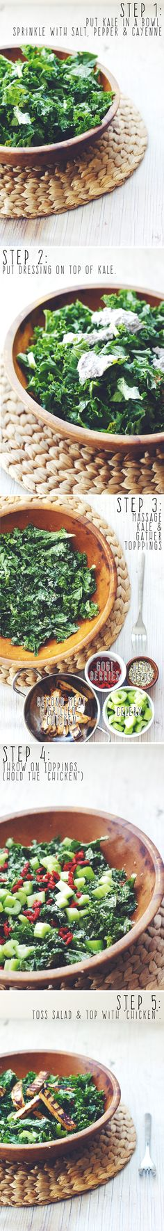 (Basic)ally Perfect Kale Salad ||| Brewing Happiness #BeyondChicken