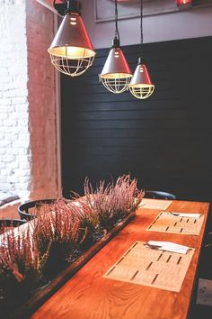 Restaurant, Vintage, Retro, Design, Table, Lamps