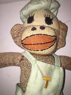 Vintage Sock Monkey w Bonnet Handmade | eBay