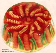 *Hot Dog Macaroni Aspic from 1957 ad in Everywoman's Magazine. The Meat We Like | Eat locally. Blog globally.