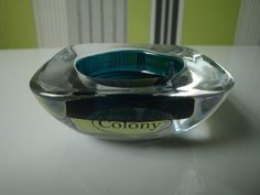Colony Square Glass Tealight Holder Bronze and Turquoise | eBay