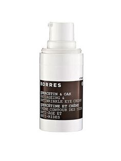 Korres Quercetin & Oak Antiageing Antiwrinkle Eye Cream, $42 (Quercetin and oak—the first natural, clinically proven alternative to retinol)
