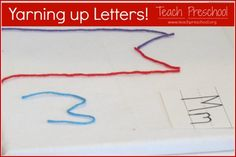 Yarning up letters!