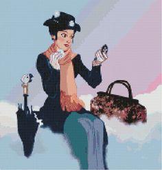 Mary Poppins Cross Stitch Pattern-Disney