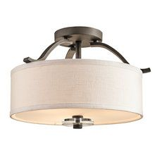 View the Kichler 42485 Transitional Three Light Semi Flush Ceiling Fixture from the Leighton Collection at LightingDirect.com.