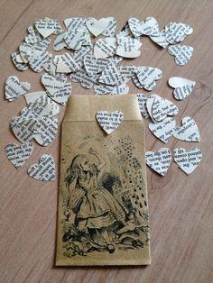 Alice in Wonderland Book Confetti for Vintage Wedding. $5.00, via Etsy.