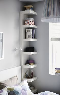 "Corner Shelf Nightstand from ""Unconventional Nightstands"""
