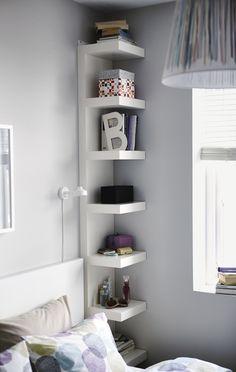 """Corner Shelf Nightstand from """"Unconventional Nightstands"""""""