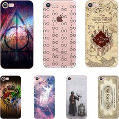 phone case Harry Potter design soft TPU clear Transparent case cover for Apple iPhone 7 7plus 6 6S 6plus 5S SE coque fundas