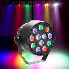 High quality 12 led par stage light LED RGBW 8 DMX Dream colour Wide use for Club Dj show Home party Ballroom Bands NEW Le Club, Commercial Lighting, Stage Lighting, Home Entertainment, Light Led, House Party, Light Colors, Color Mixing, Luz Led