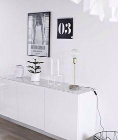 Scandinavian Living Room: Kähler Hammershøi Vase, By Lassen Kubus Candle Holder; Søstrene Grene Lamp, Ma Maison Blanche Calendar