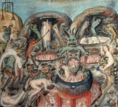 Hell, Missal of Raoul du Fou, late 15th century or early 16th century