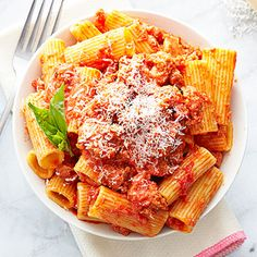 Parmesan & Sausage Bolognese #pastarecipes #easydinners