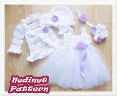 Looking for your next project? You're going to love crochet tulle dress set crochet pattern  by designer Nedinet.