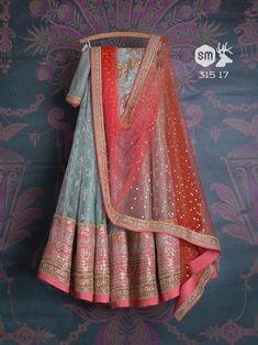 Swati Manish - Available Lehengas Indian Wedding Outfits, Bridal Outfits, Indian Outfits, Indian Clothes, Indian Weddings, Indian Lehenga, Lehenga Choli, Sarees, Blue Lehenga