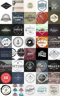 Vintage Logo Templates http://blog.templatemonster.com/2016/02/12/200-free-vintage-resources-designers/ #webdesign