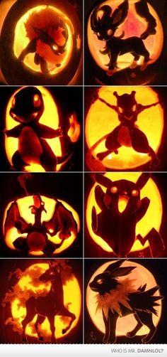 Pokemon jack-o-lanterns