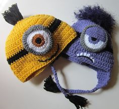a640d046d23 Evil Minion and Yellow Minion Despicable Me by StitchKouture