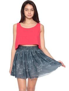 Chiffon Double-Layered Shirred Waist Skirt   Shop American Apparel - StyleSays