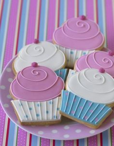 Featured in Cake Decorating magazine. Cupcake Cookies