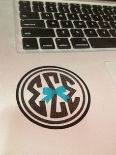Sigma Sigma Sigma Circle Monogram Decal With A Bow by BowsAndClips, $5.00