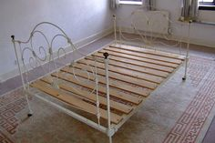 Genuine Victorian Wrought Iron Double Bed Circa 1880's on Gumtree. A very nice (Genuine) Victorian wrought iron bed circa 1880's,wooden slatted to take a 4ft 6in mattr