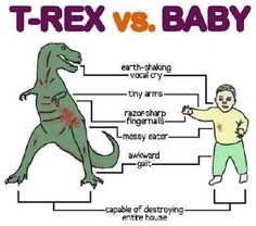Dinosaurs and babies are strikingly similar