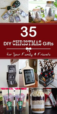 Check out this great list of the most creative DIY Christmas gifts for Your Family and Friends.