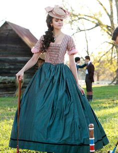 I want this as the front with the other striped gown as the back! Civil War Gown.