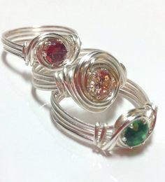 Wire Wrapped Ring - CZ