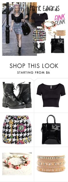 """""""Perrie Edwards style"""" by domy-love ❤ liked on Polyvore featuring Paolo Shoes, H&M, Versace and Tai"""