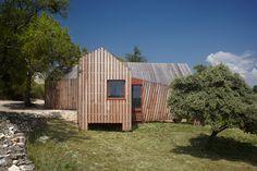 """La Cabotte by H20 Architectes """"Location: Barrage de Donzère-Mondragon, Bollène, France"""" 2013"""