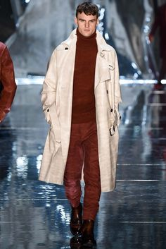 Great colors, burnt and soft white.  Berluti Fall 2015 Menswear - Collection - Gallery - Style.com