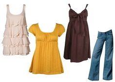 clothes for apple shaped women | The length of your tops should either catch you just below your hip ...