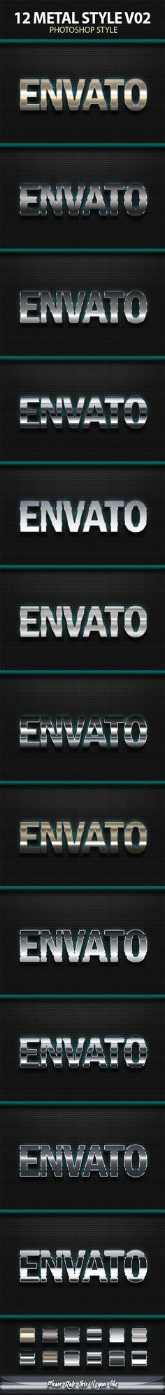 Buy 12 Metal styles by Ilham_desain on GraphicRiver. 12 Metal styles Text Effect. Great Work with Bold font. You can use it in small or large text. Photoshop Text Effects, Photoshop Fail, Creative Photoshop, 3d Text, Bold Fonts, Layer Style, Text Style, 3 D, Photo Editing