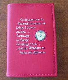 Narcotics Anonymous NA Basic Text Book Red Serenity Prayer Cover 6th Edition | eBay