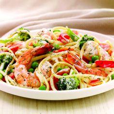 Shrimp & Pasta Primavera